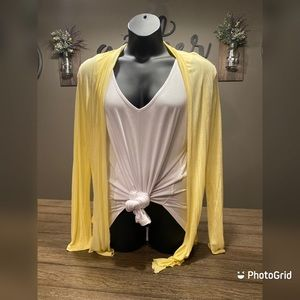 Butter Yellow Lightweight Cardigan